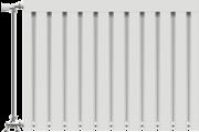 Viking aluminium radiátor 600 mm kötéstáv 5 tag