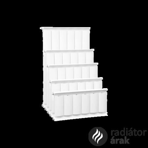Romantik Plus fehér szinterezett aluminium radiátor 900mm kötéstáv