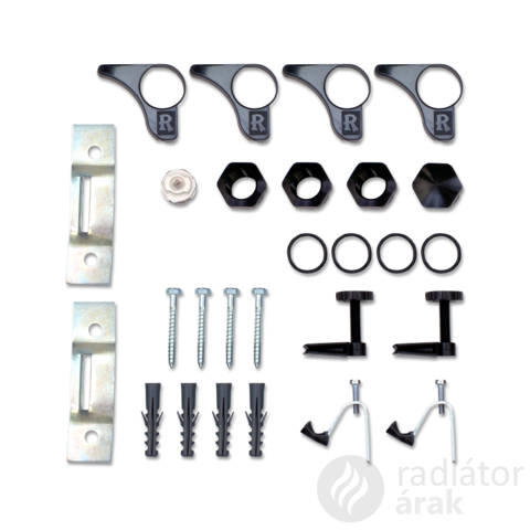 Romantik radiátor szerelési egységcsomag ( fekete )